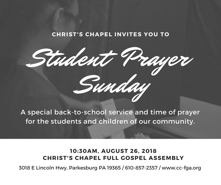 Copy of Student Prayer Sunday